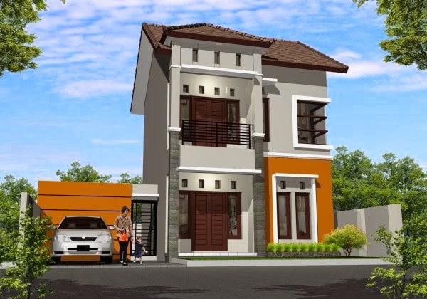 Contoh rumah minimalis Type 36 model 2 lantai yang modern