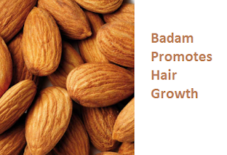 Health Benefits of Almond or Badam Promotes Hair Growth