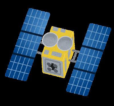 小惑星探査機のイラスト