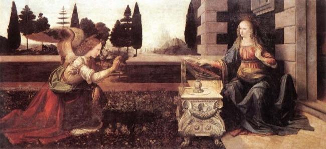 Leonardo da Vinci Благовещение