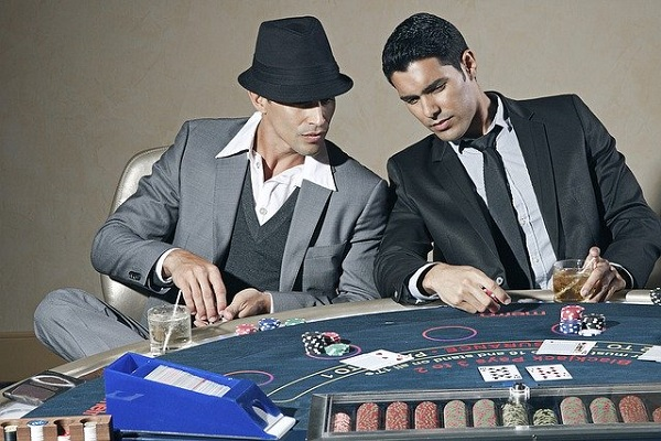 playing casino game, poker, playing poker