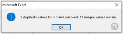 Menghapus Data Duplikat pada Ms Excel