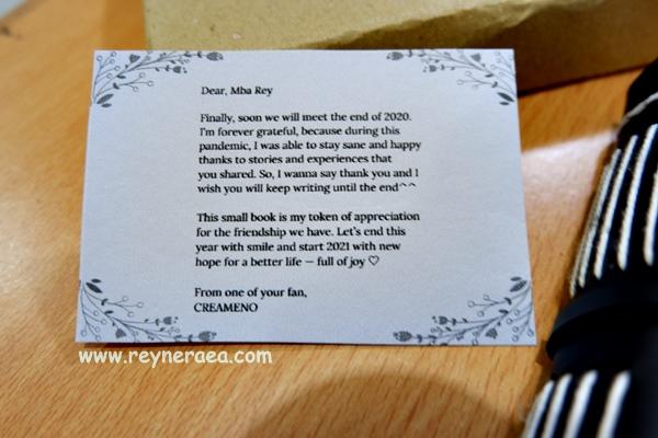 gift card from creameno