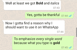 How to use bold and italics text in whatsapp image
