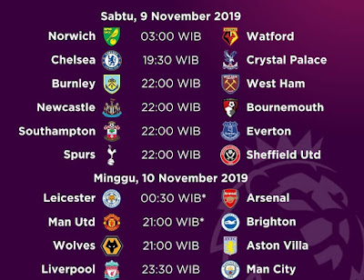 مباريات الاسبوع الدوري الانجليزي