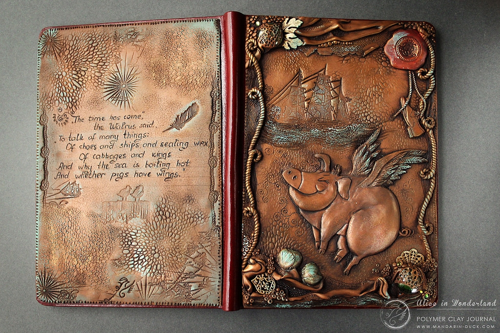 10-Happy-Pig-Aniko-Kolesnikova-Polymer-Clay-Book-Diary-and-Electronics-Cover-www-designstack-co