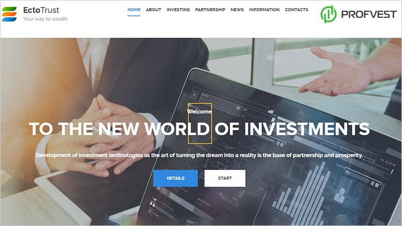 EctoTrust обзор и отзывы HYIP проекта ectotrust.com