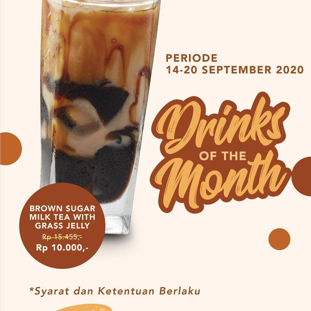 Bakmi GM Promo Drinks Of The Month Periode 14 - 20 September 2020