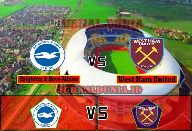 Prediksi Brighton & Hove Albion vs West Ham United  ,Minggu 16 May 2021 Pukul 02.00 WIB