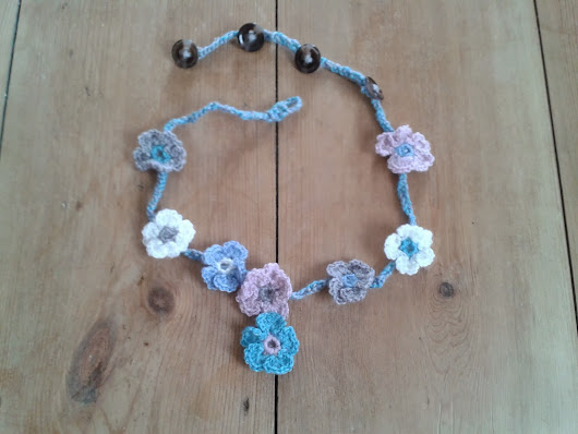 Floral Crochet Necklace For Sale - £8.50 inc postage