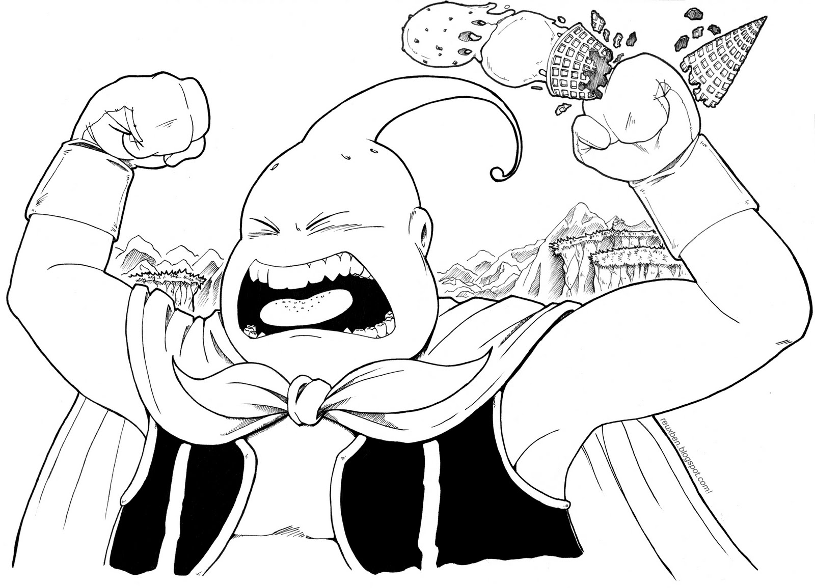 Kid Buu Coloring Pages