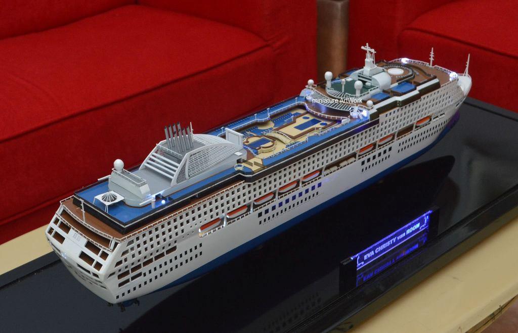 desain sketsa miniatur kapal pesiar sun princess cruises ship pacific world terbaik