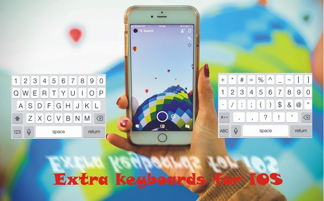Extra keyboards for iOS