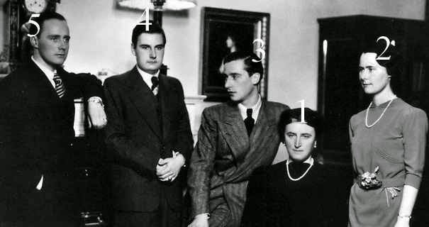 Feodora, grande-duchesse de Saxe et ses enfants