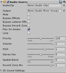 Unity Game Engine: إضافة تأثيرات صوتية إلى اللعبة