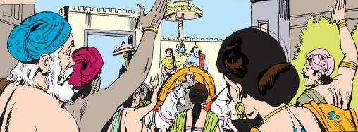 Krishna with Aniruddha and Usha