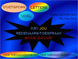 Voetspore Voel Letters Redenaars Toespraak