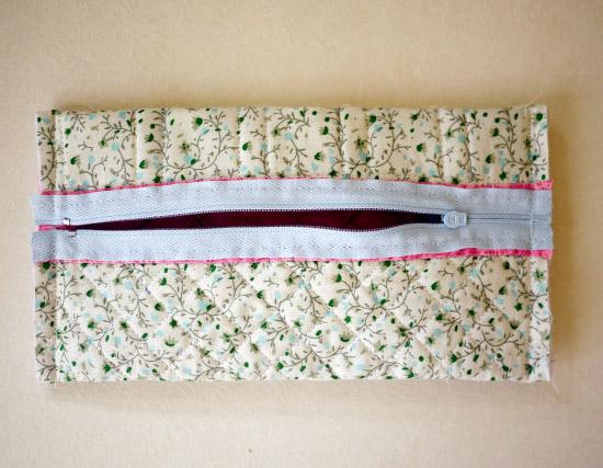 Pencil Box Fabric Patchwork. Сумочка-пенал для карандашей