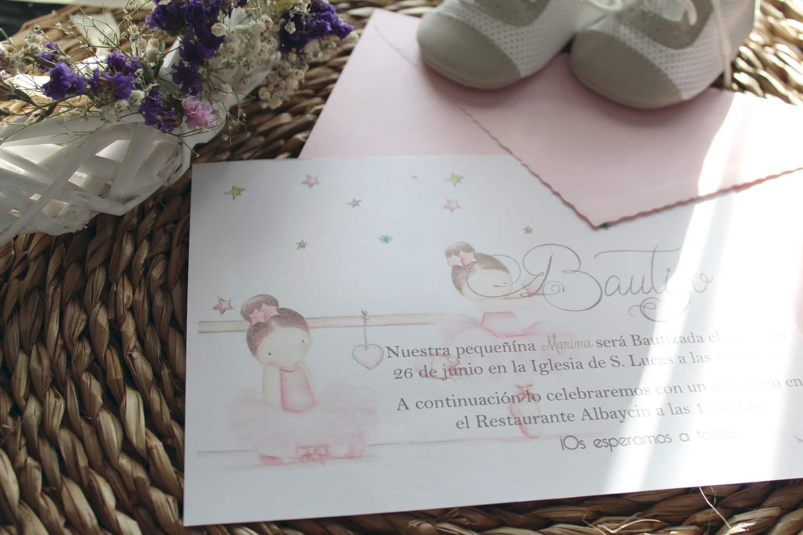 Tiernas Invitaciones de Bautizo mis secretos de boda events