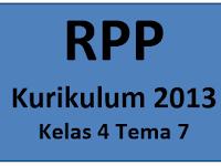 RPP Super K13 Kelas 4 Tema 7 - 1 Halaman Saja
