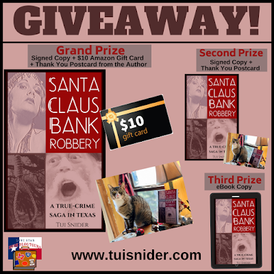 Santa Claus Bank Robbery giveaway graphic