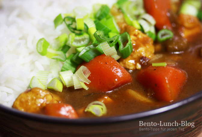 bento lunch blog rezept kare raisu vegetarisch japanischer curry reis. Black Bedroom Furniture Sets. Home Design Ideas
