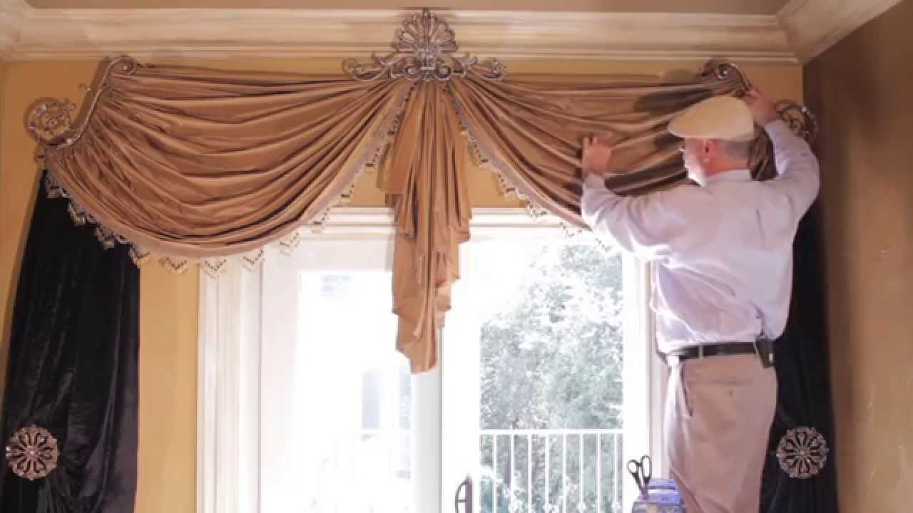 How To Install Curtain Holdbacks Rod Brackets Tie Back Hooks Backs
