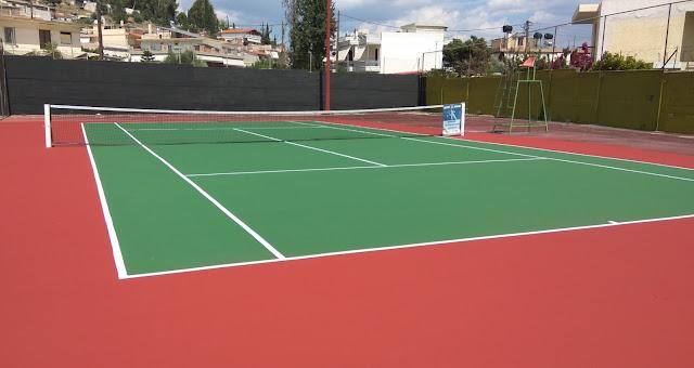 Ανανέωση των τριών γηπέδων τένις στο Δ.Α.Κ. Άργους και του περιβάλλοντα χώρου