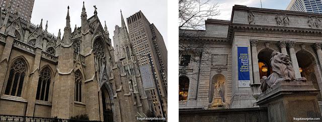 5ª Avenida, Nova York: Catedral de Saint Patrick e Biblioteca Pública