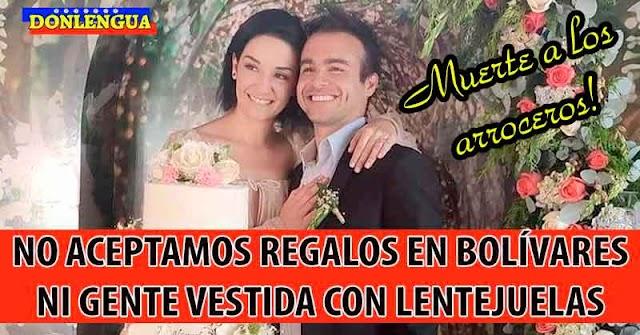 TIERRA TÁGAME   En la boda de Daniela Alvarado no aceptaron arroceros ni gente vestida con lentejuelas