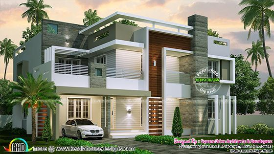 2853 sq-ft contemporary house