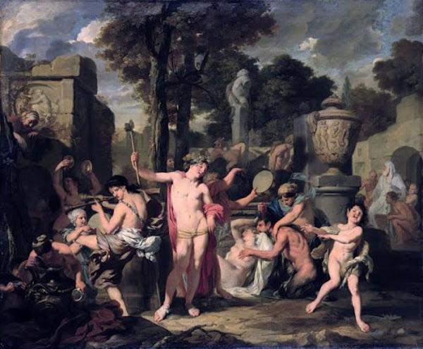 Gérard de Lairesse The feast of Bacchus, Classical mythology, Greek mythology, Roman mythology, mythological Art Paintings, Myths and Legends