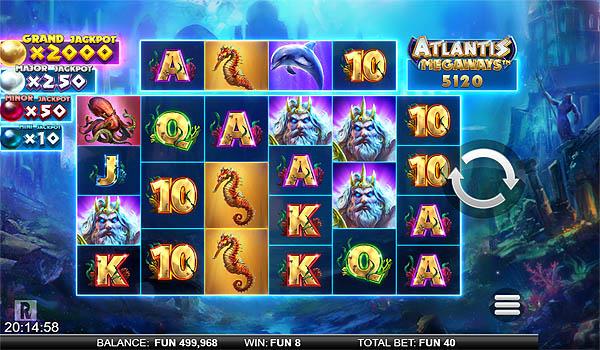 Main Gratis Slot Indonesia - Atlantis Megaways ReelPlay