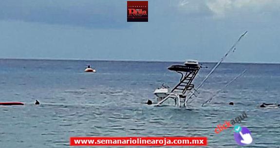 Naufraga embarcación frente a la costa de Cozumel