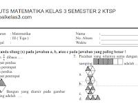 Soal UTS Matematika Kelas 3 Th. 2018 Semester 2 + Jawaban