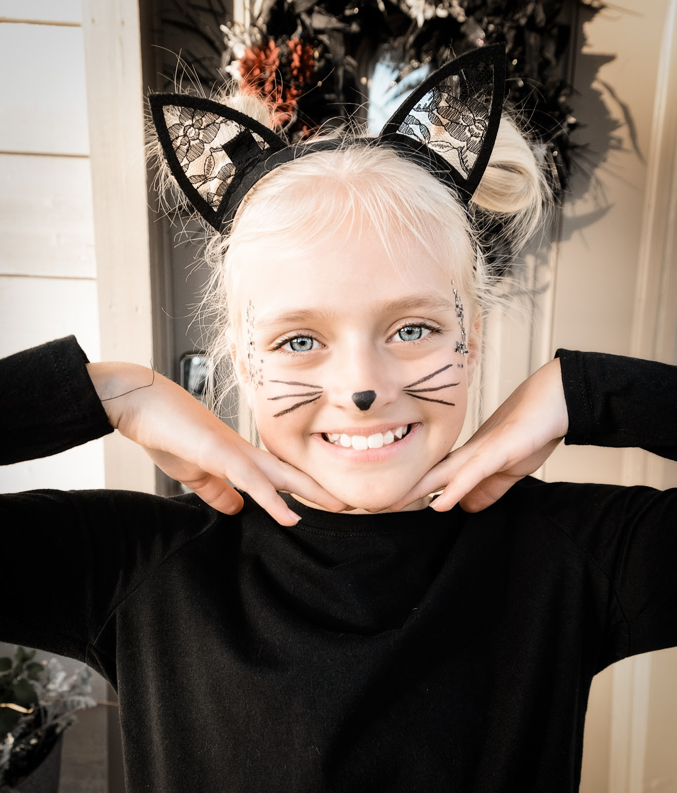 Easy Black Cat Costume - Adorable & Affordable Kitty Costume! Last Minute Halloween Costume Kids Costume Simple Easy Kitty Cat Costume Cosplay Meow Black Cat Halloween Cat Ears Cat Tail Target Target Costume Target Find DIY Costume Home Made