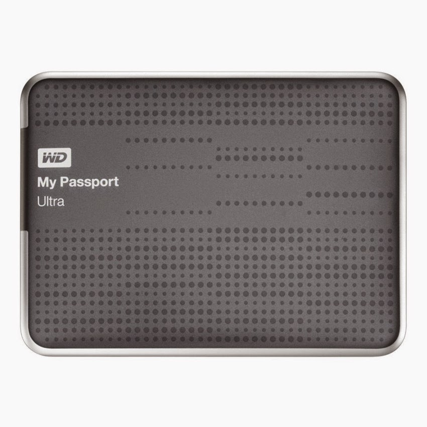 Western Digital WD 1TB My Passport Ultra 2.5In USB3.0 Portable Storage External Hard Drive Titanium