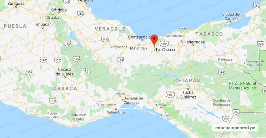 Temblor en México de Magnitud 4.1 (Hoy Domingo 23 Agosto 2020) Sismo - Epicentro - Las Choapas - Veracruz de Ignacio de la Llave - VER. - SSN - www.ssn.unam.mx
