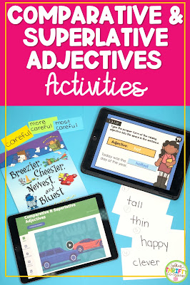 Looking for some fun comparative and superlative adjectives activities for upper elementary students? Check out these engaging activities.