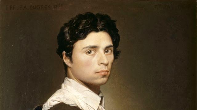 Jean-Auguste-Dominique Ingres, dettaglio dell'autoritratto