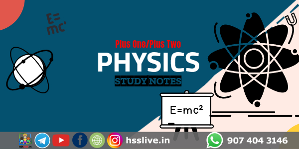 Higher Secondary Plus One/Plus Two Physics Class Notes