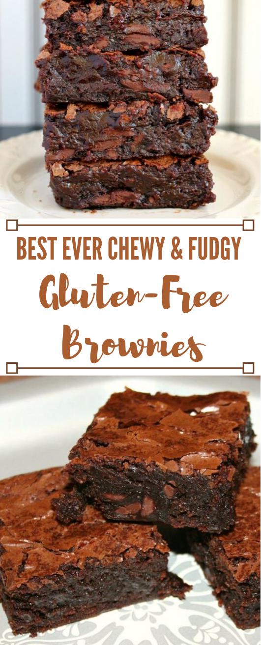 BEST EVER CHEWY FUDGY GLUTEN-FREE BROWNIES #desserts #glutenfree #sugar #brownies #cakes