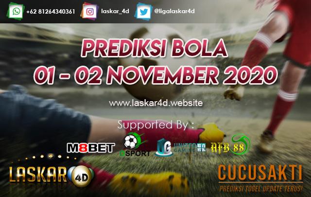 PREDIKSI BOLA JITU TANGGAL 01 - 02 NOV 2020