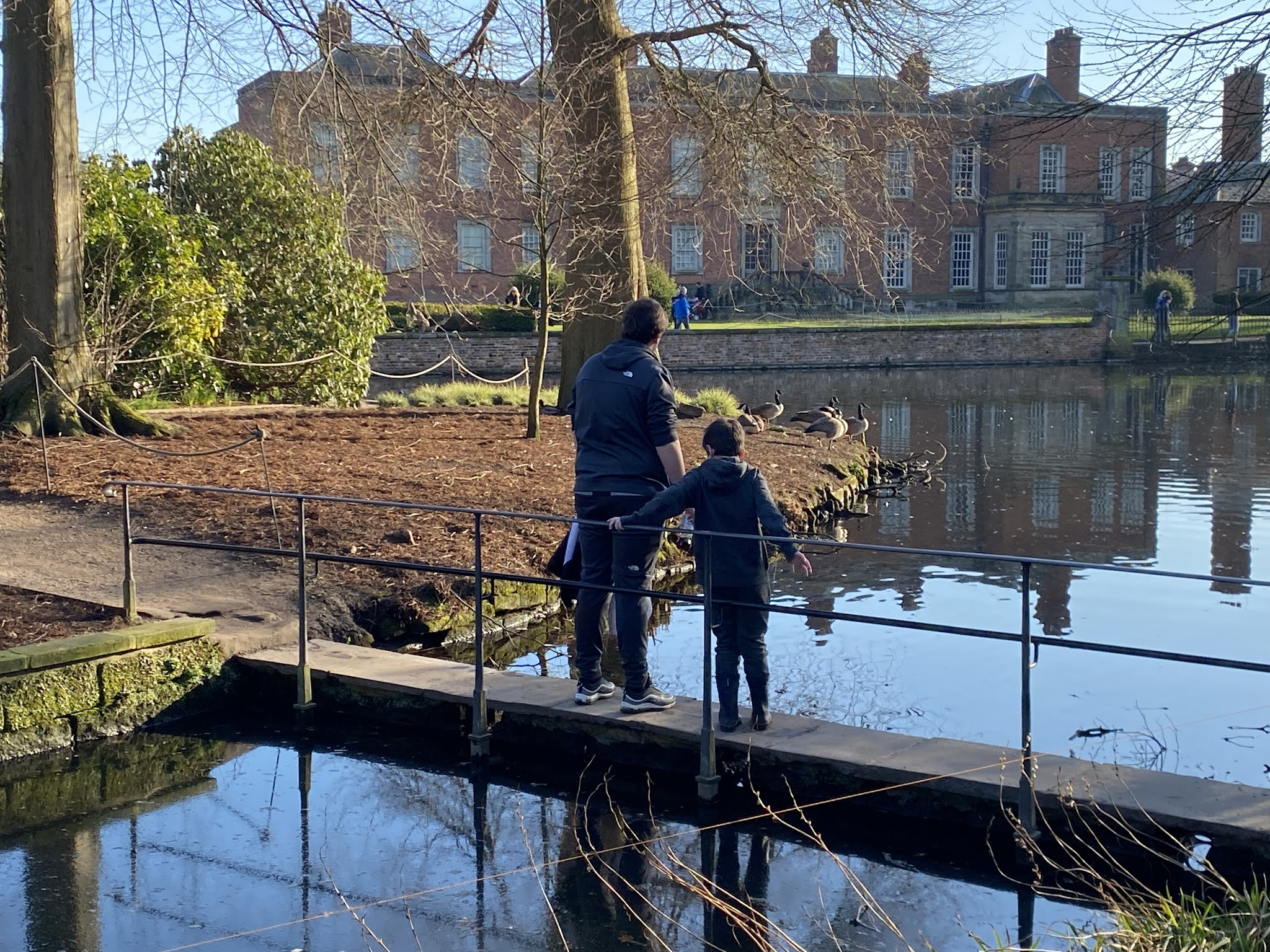 Boys looking at Dunham Massey Estate