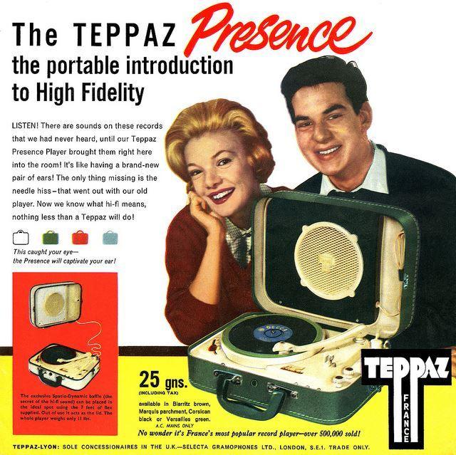 Vinyl Philosophy Vintage Advertisement Teppaz