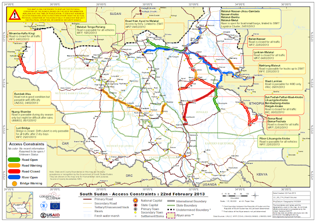 Mapas Geográficos do Sudão do Sul