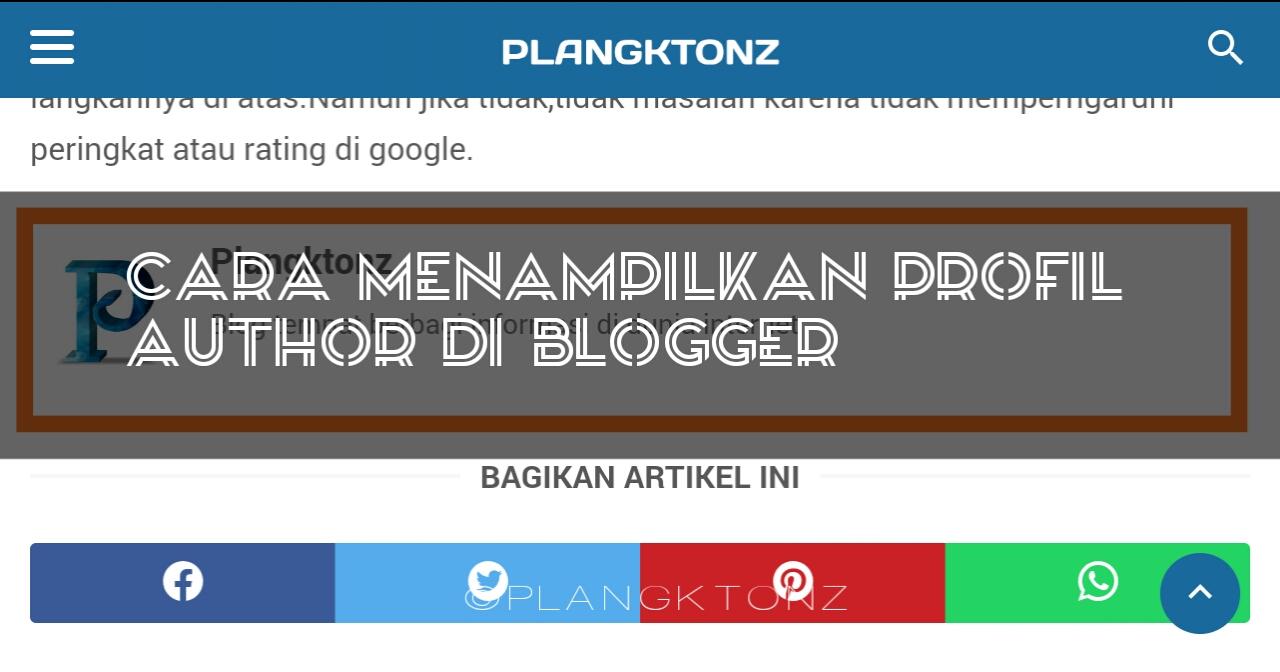 Cara menampilkan profil author di blogger