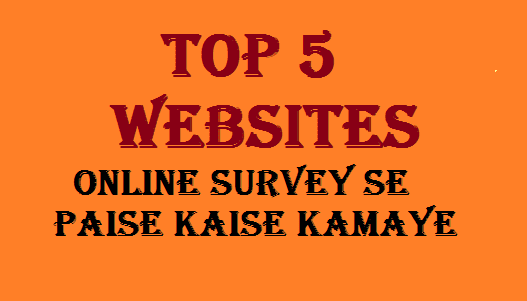Top 5 Websites Survey Se Paise Kamaye With Payment Proof