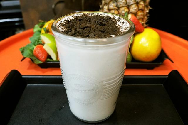 cara membuat milkshake oreo