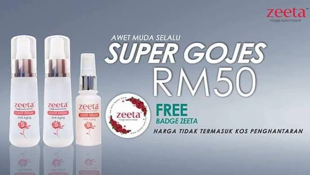 set super gojes serum mawar zeeta